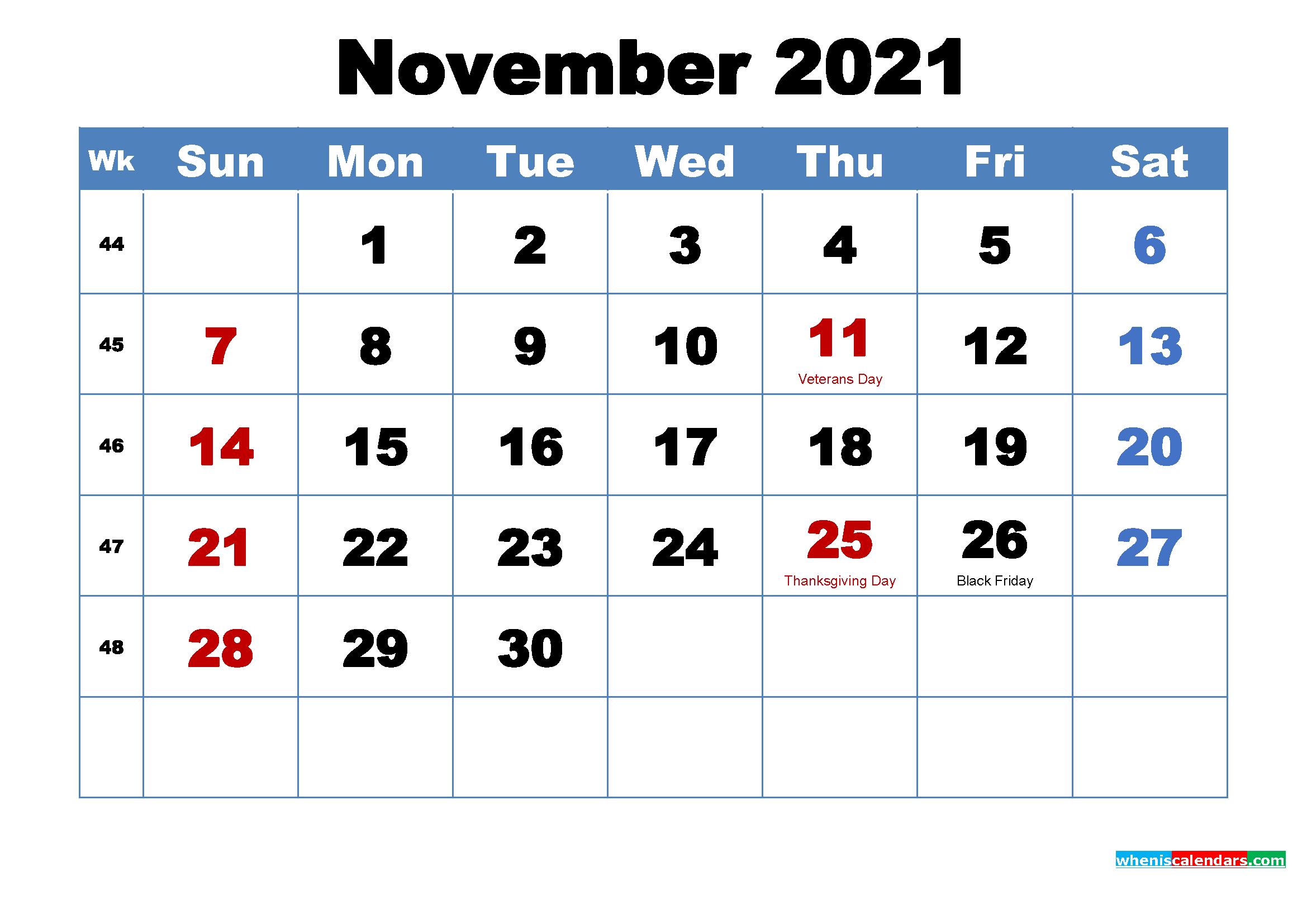 November 2021 Calendar Wallpaper Free Download