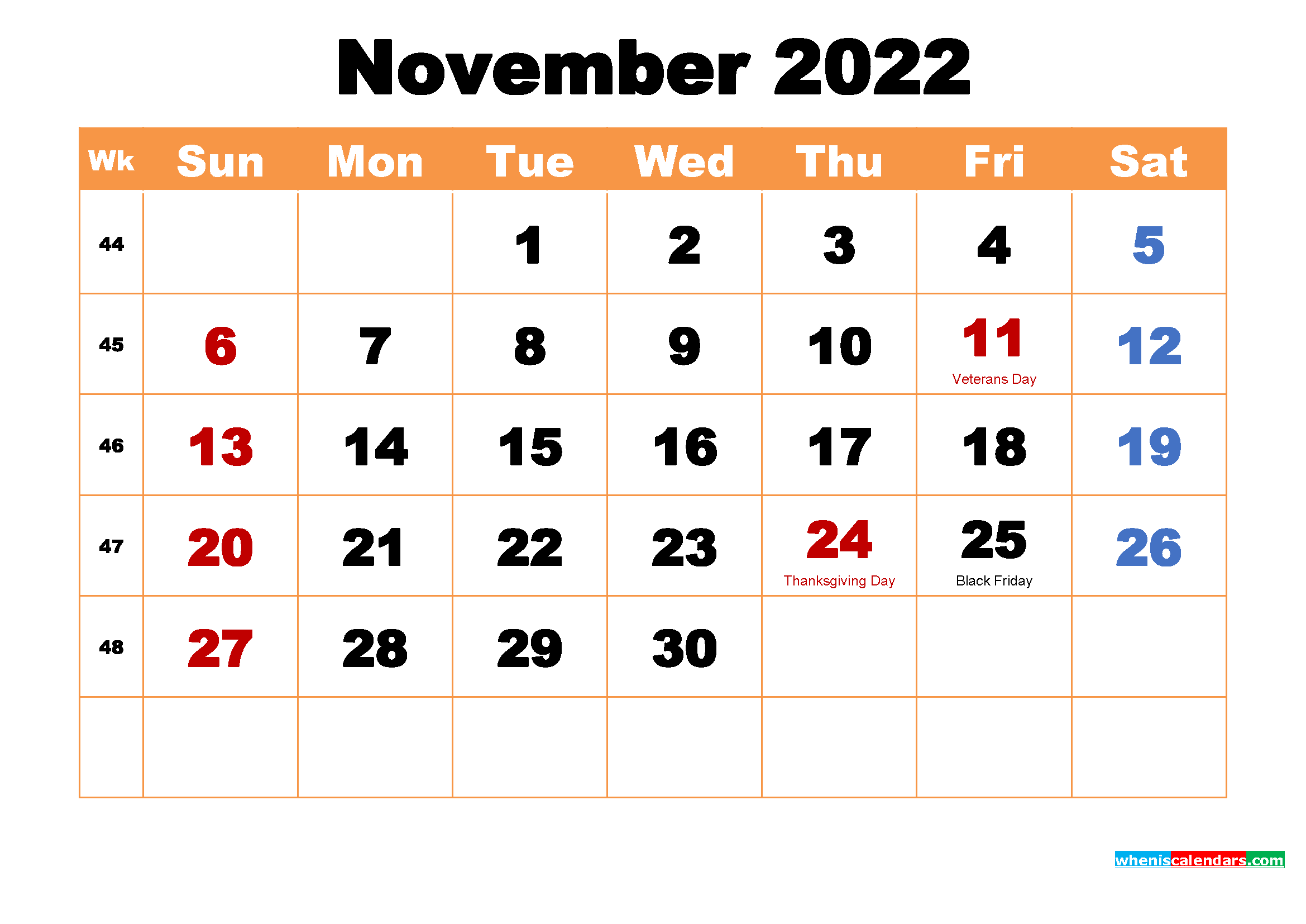November 2022 Calendar Wallpaper High Resolution