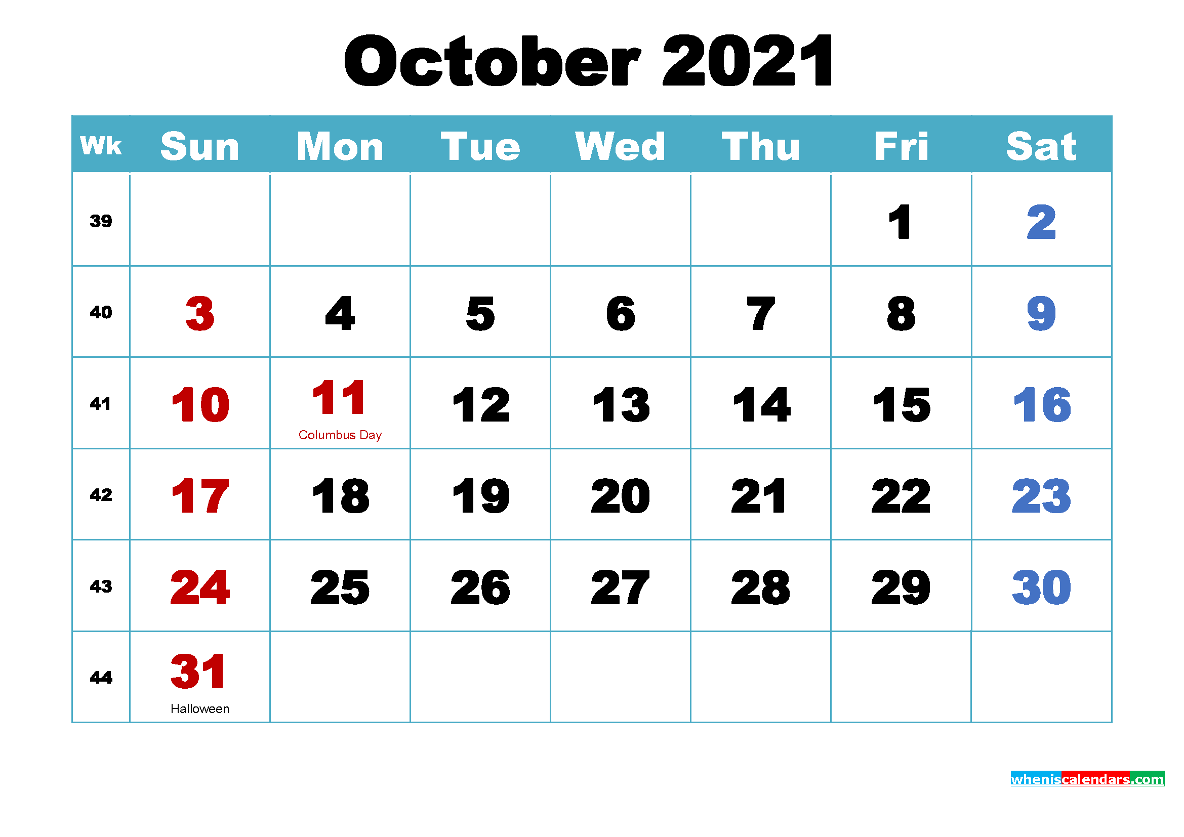 October 2021 Desktop Calendar Free October 2021 Desktop Calendar High Resolution – Free