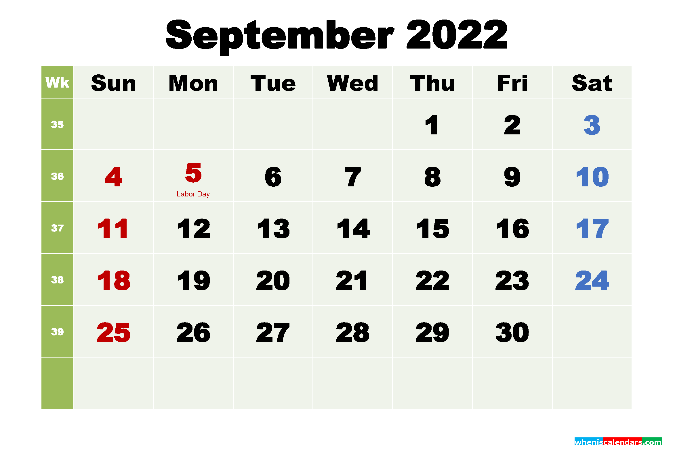 September 2022 Calendar Wallpaper High Resolution