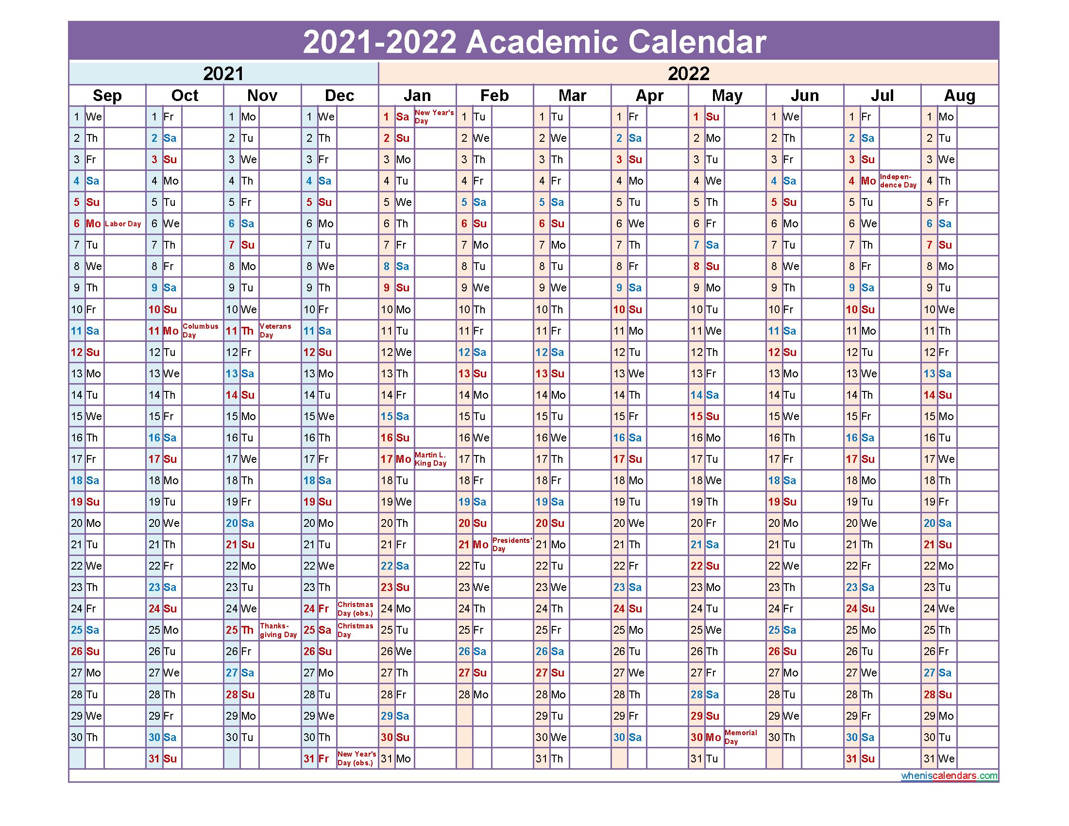 University Of Arkansas Academic Calendar 2021 2022 | Lunar ...