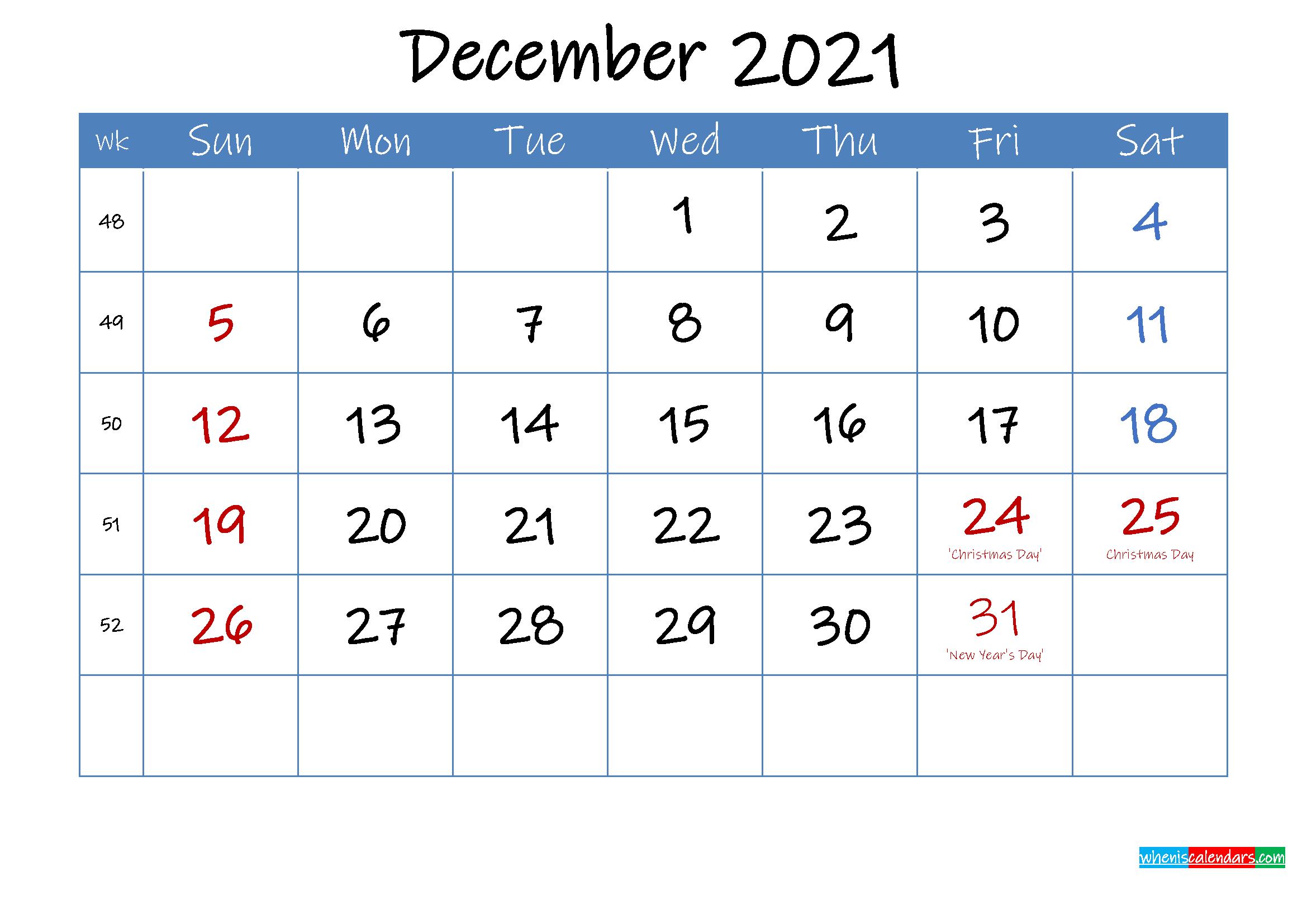Printable December 2021 Calendar Word - Template ink21m24 ...
