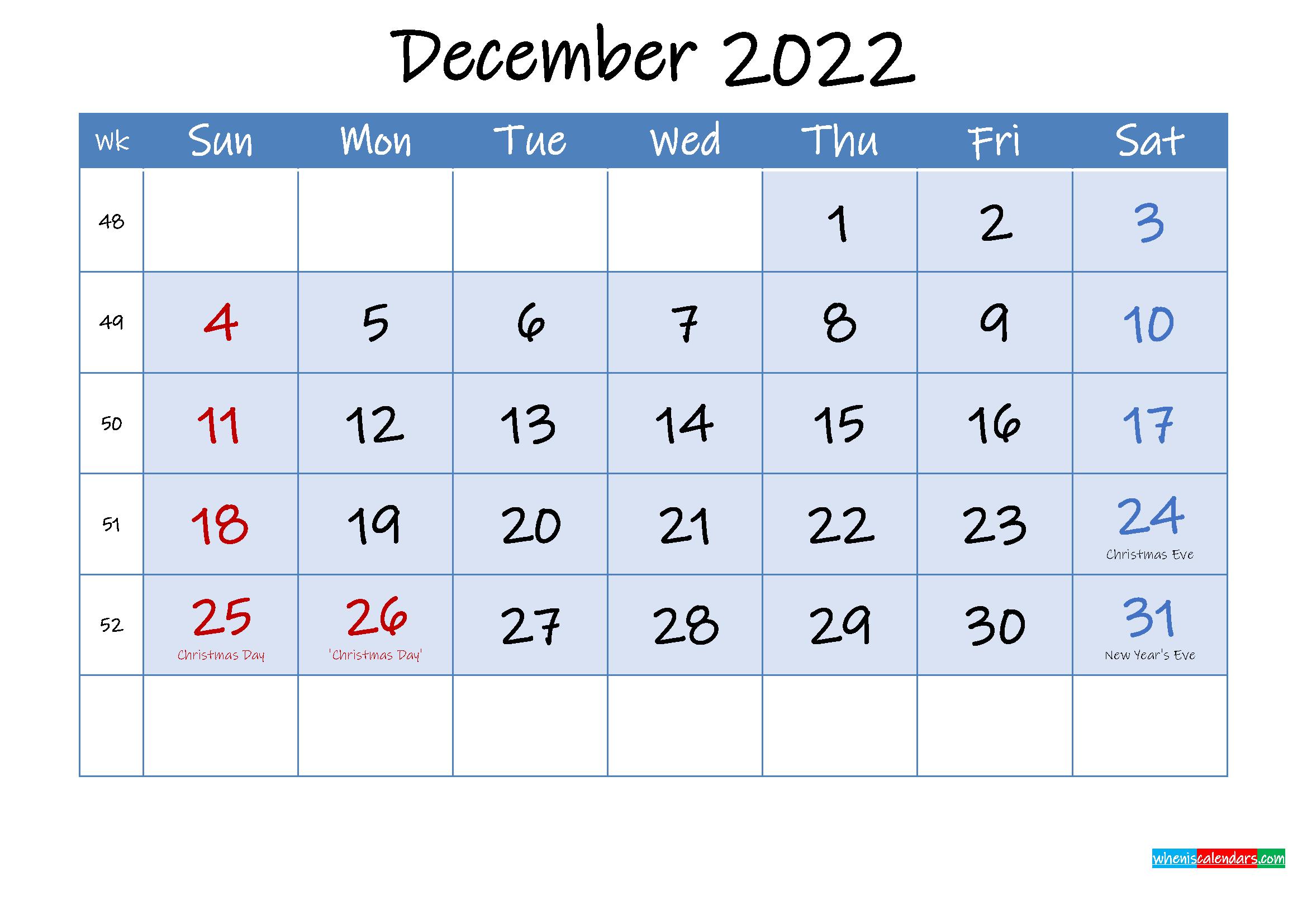 Printable December 2022 Calendar Word.Free Printable December 2022 Calendar Template Ink22m108 Free Printable 2021 Monthly Calendar With Holidays