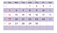 Editable June 2022 Calendar
