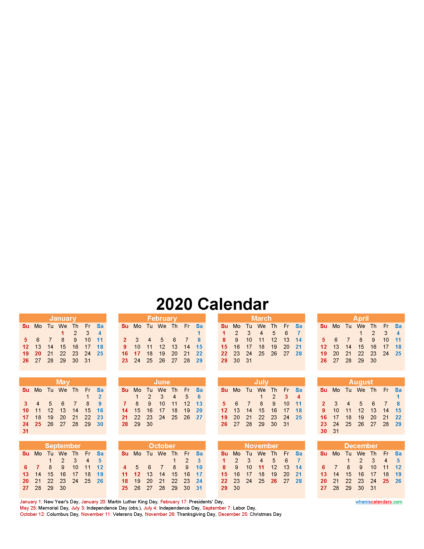 Create Your Own Photo Calendar Online Free 2020