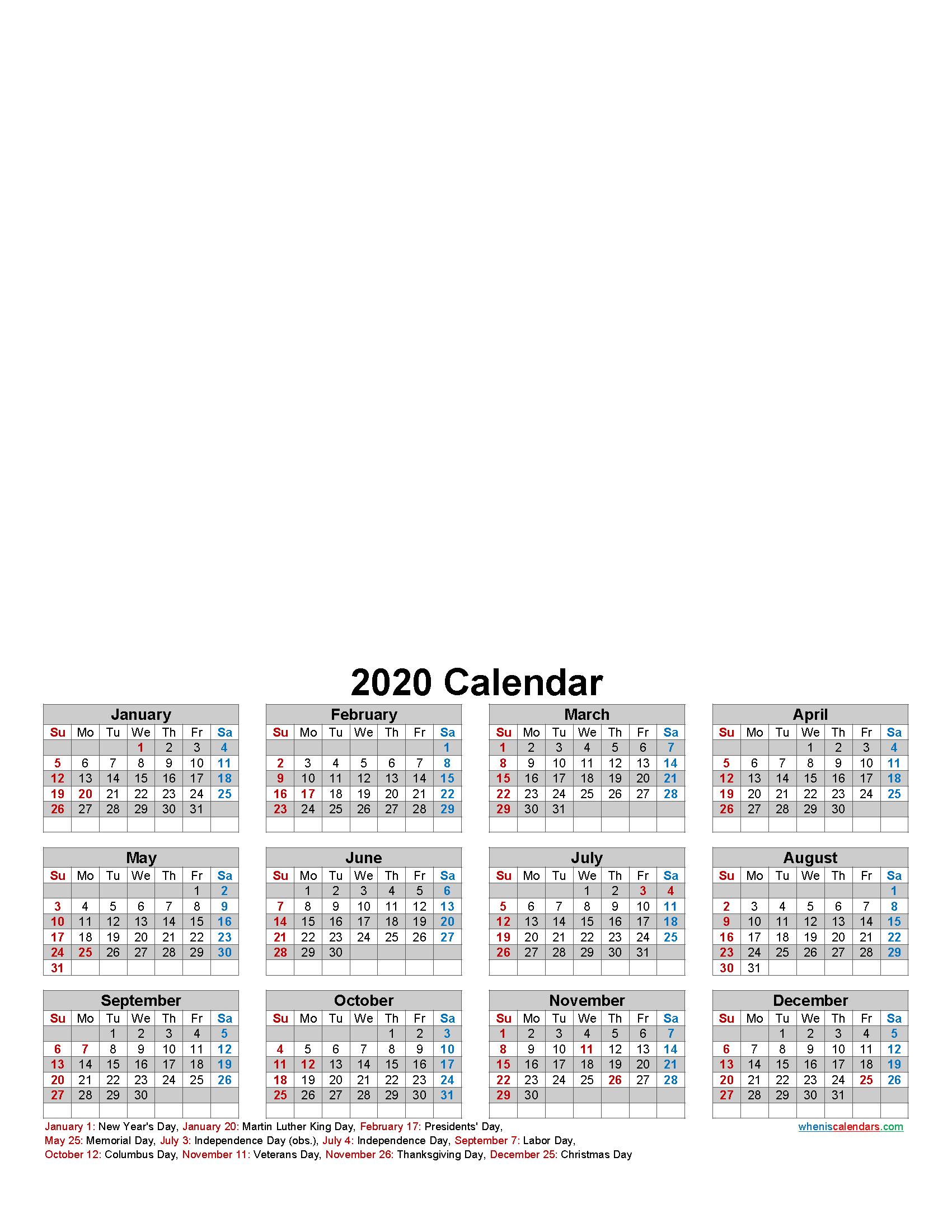 Make Your Own Photo Calendar 2020