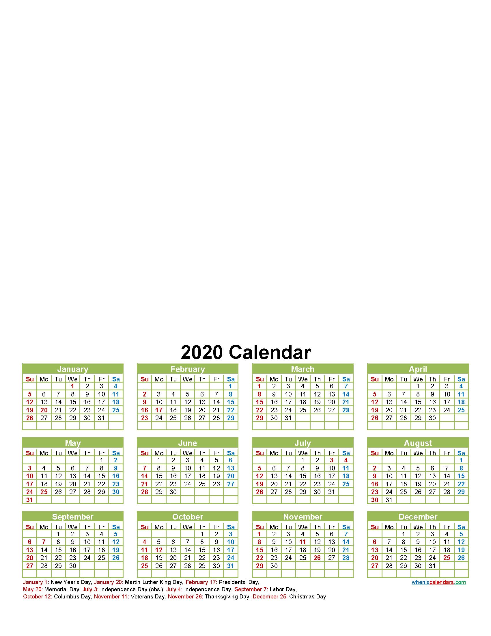 Personalised Photo Calendar 2020