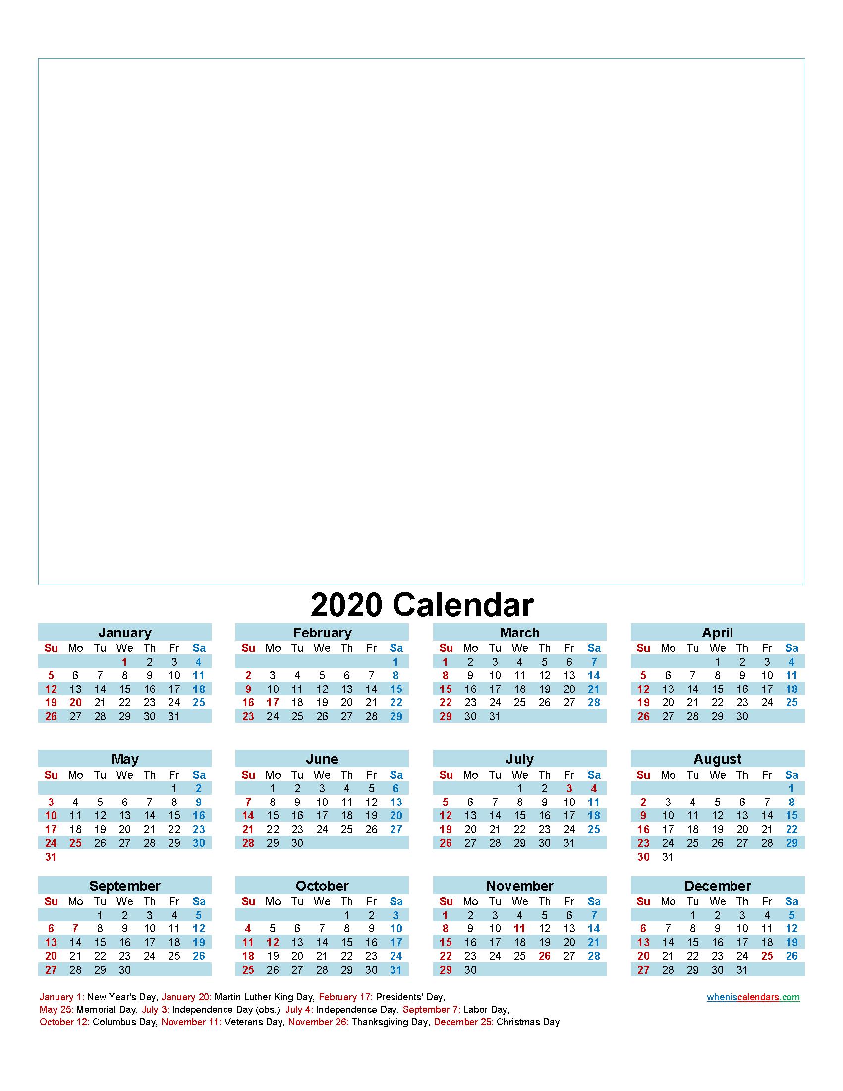 Make Your Own Photo Calendar Free 2020