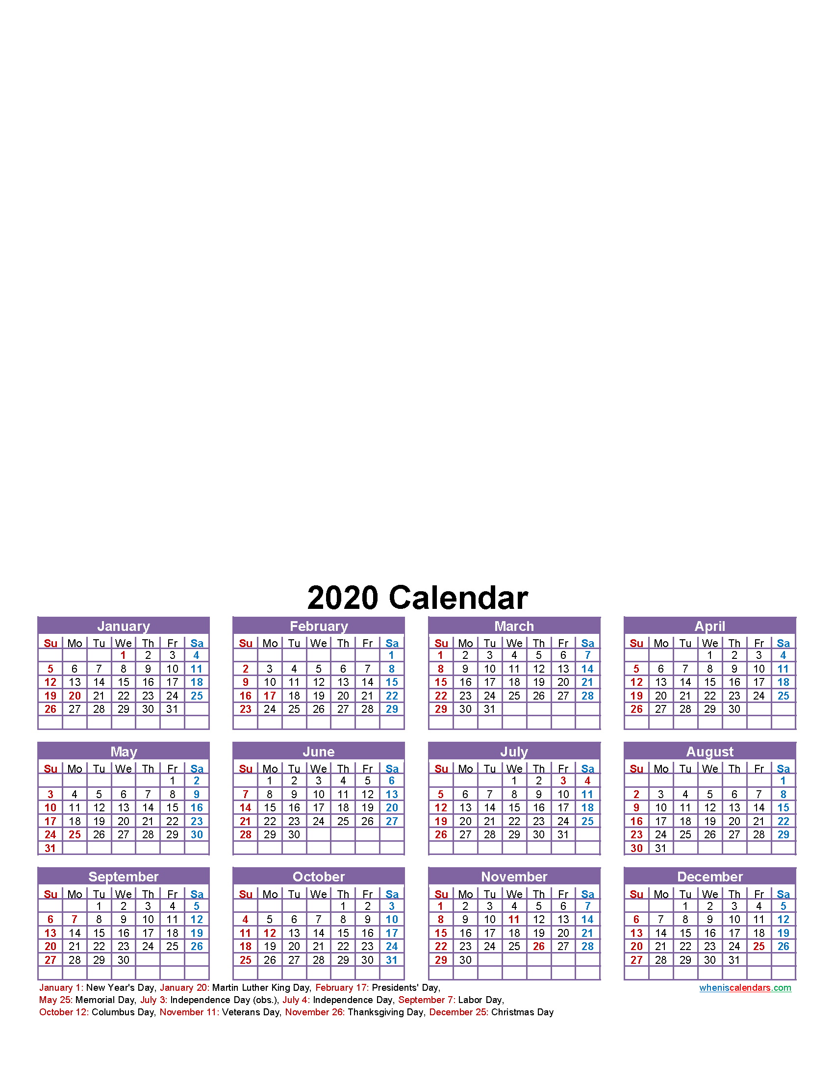 Make Your Own Photo Calendar Free 2020