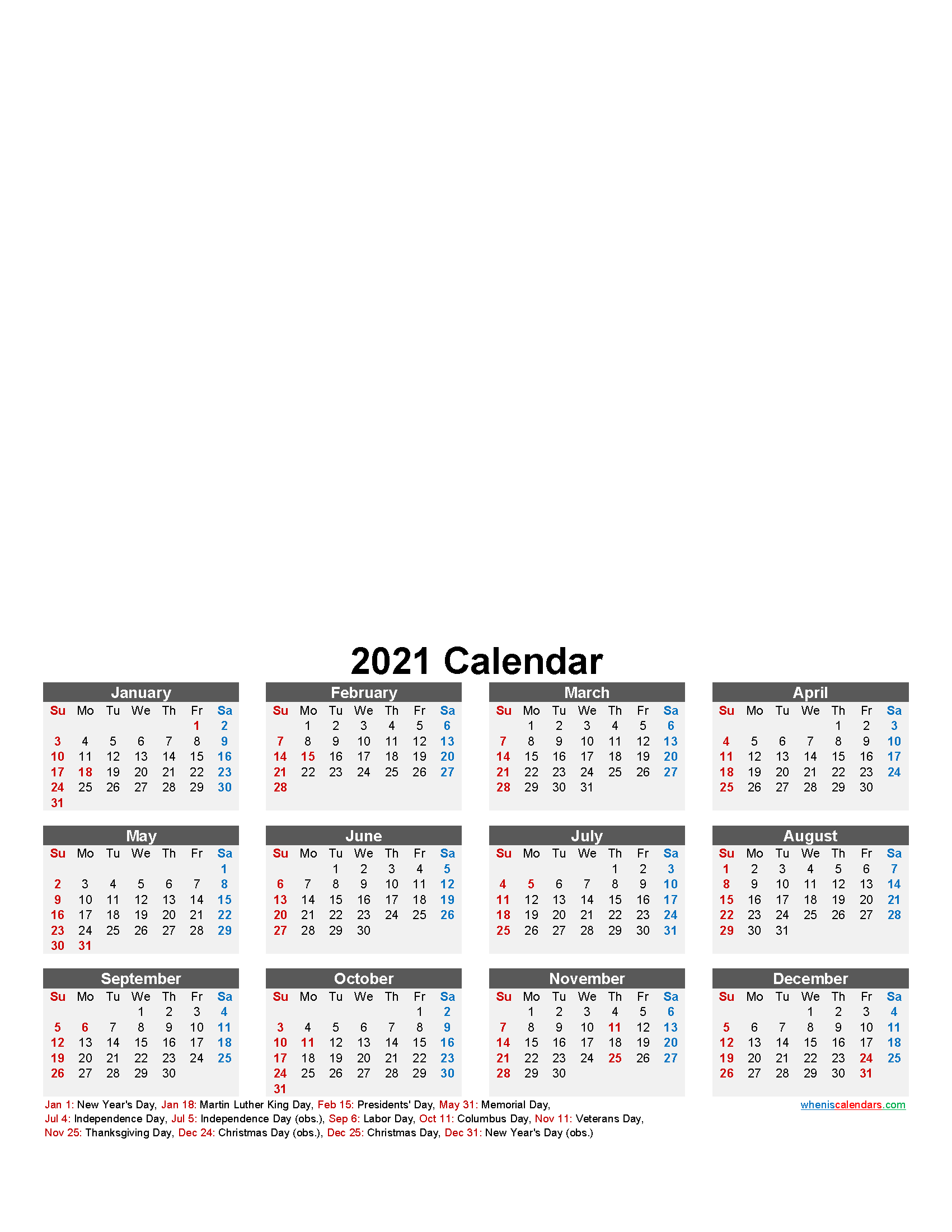 Make Your Own Photo Calendar 2021