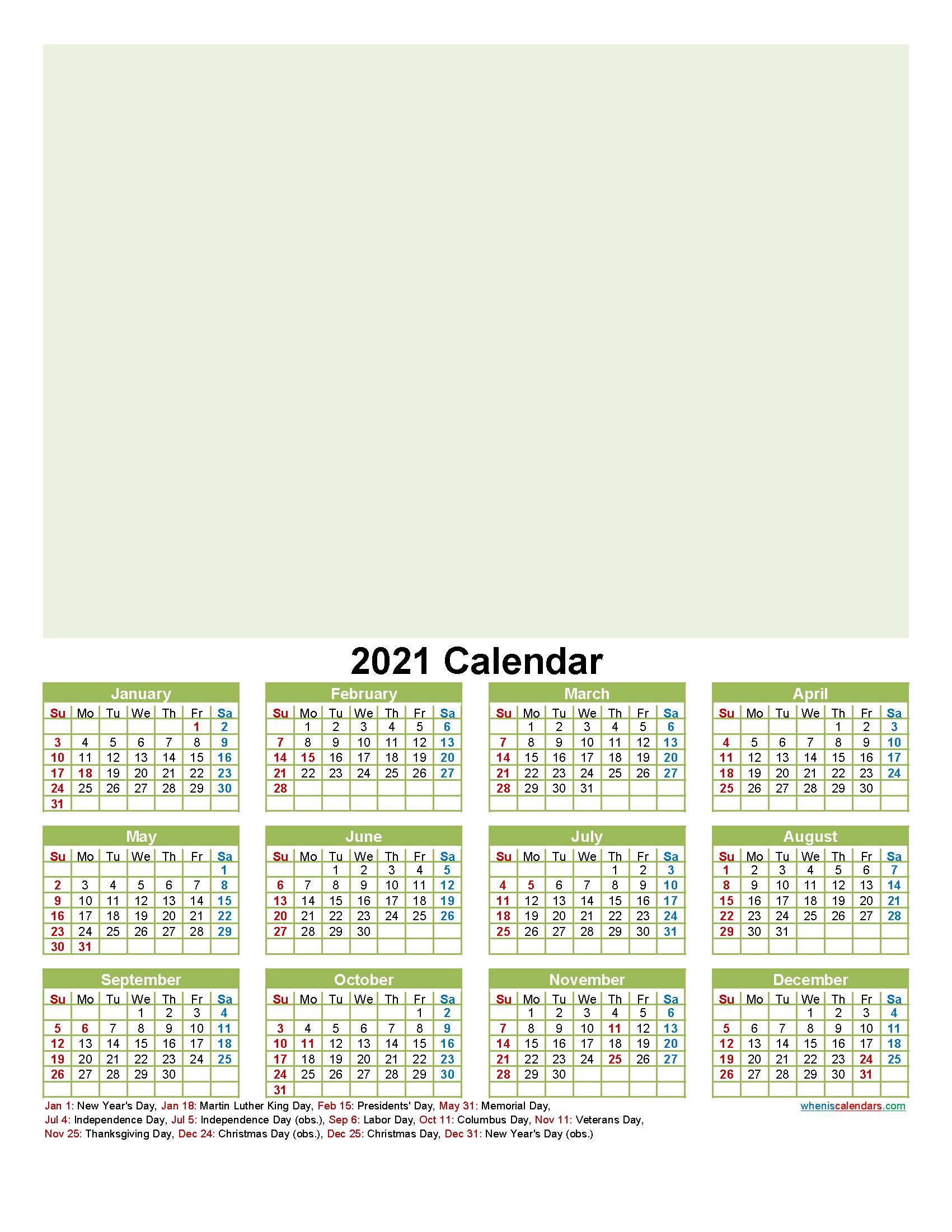 Personalised Photo Calendar 2021
