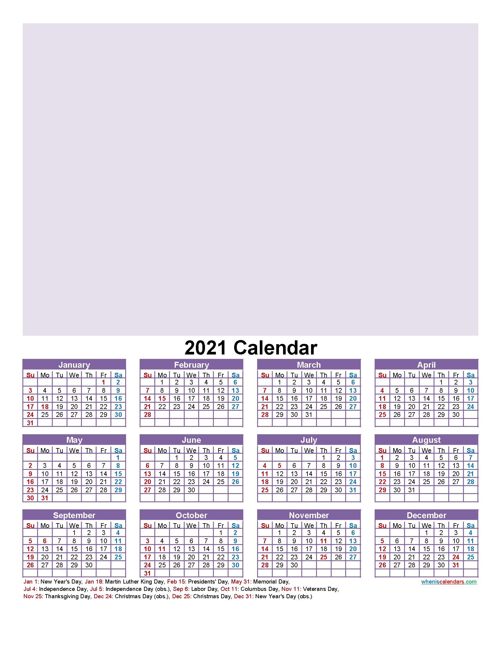 Make Your Own Photo Calendar Free 2021