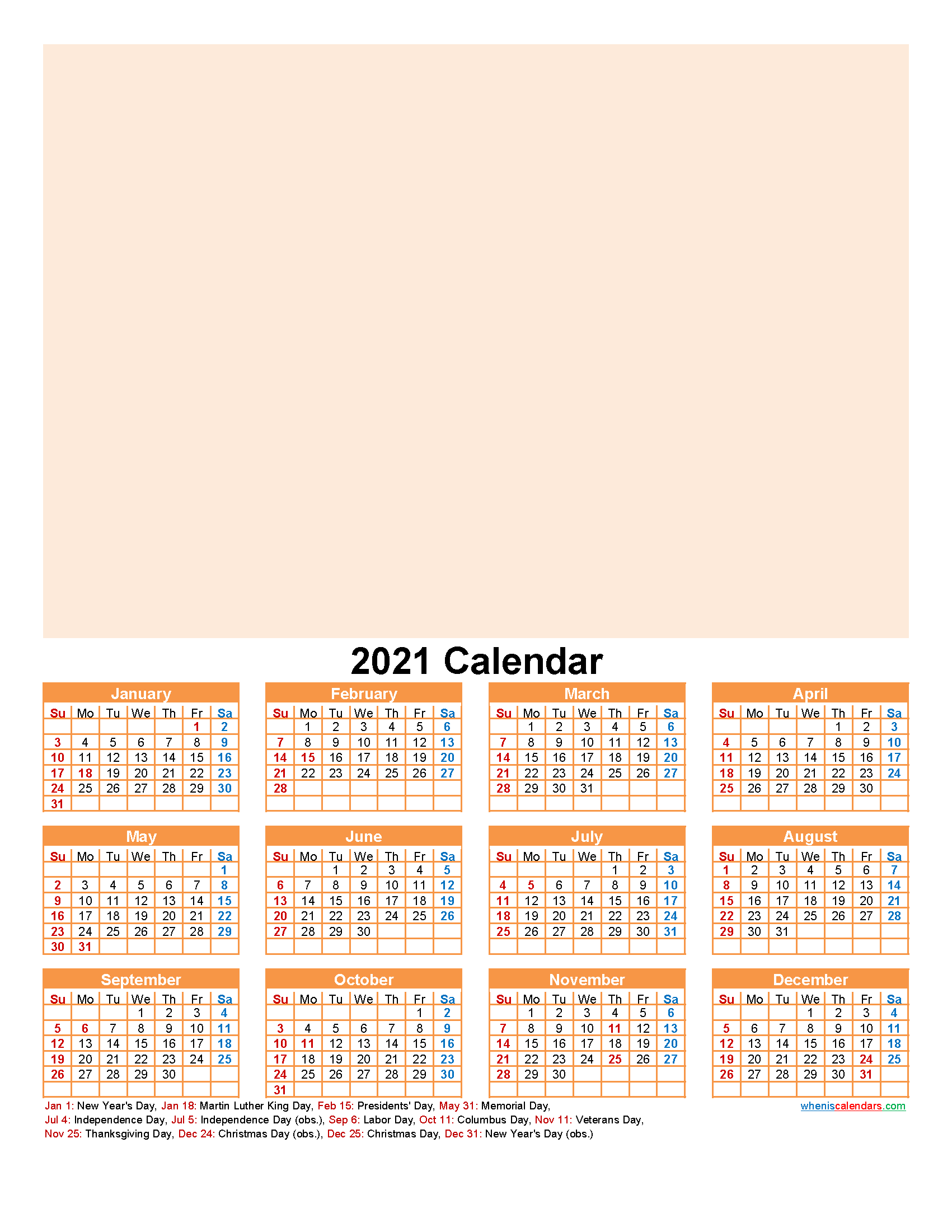 Create Your Own Photo Calendar Online Free 2021 - Template ...