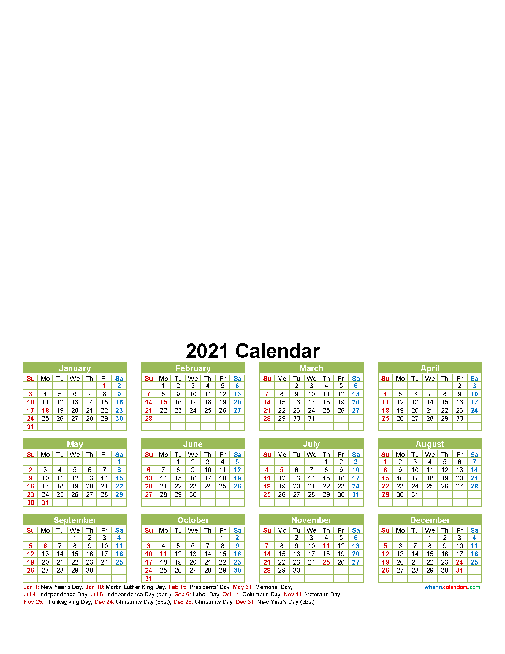 Personalised Photo Calendar 2021