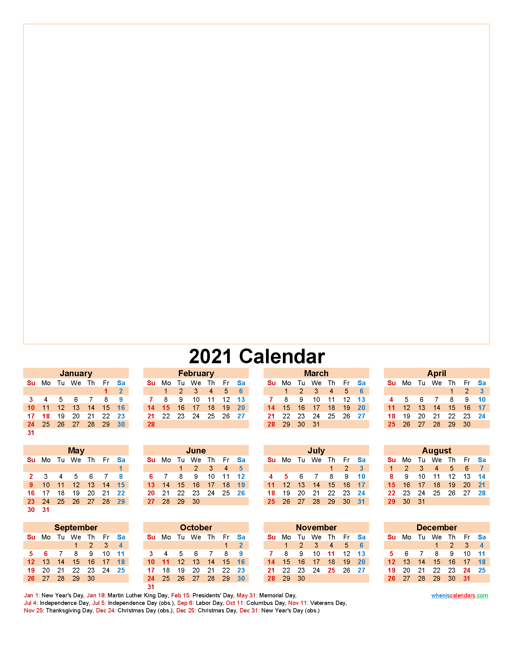 Create Your Own Photo Calendar Online Free 2021