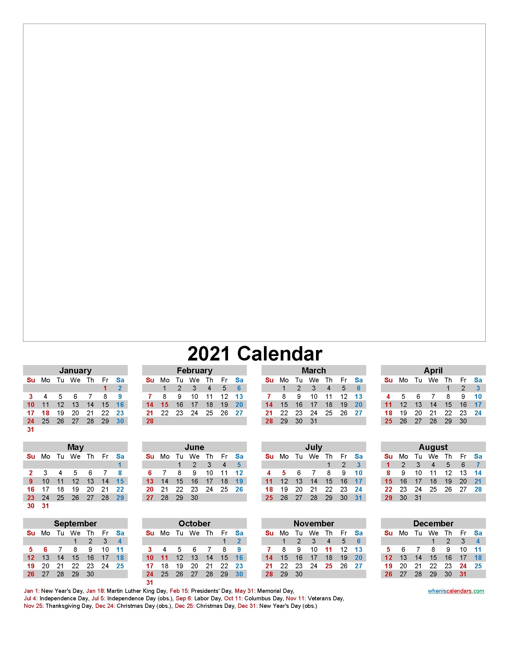 Make Your Own Photo Calendar 2021