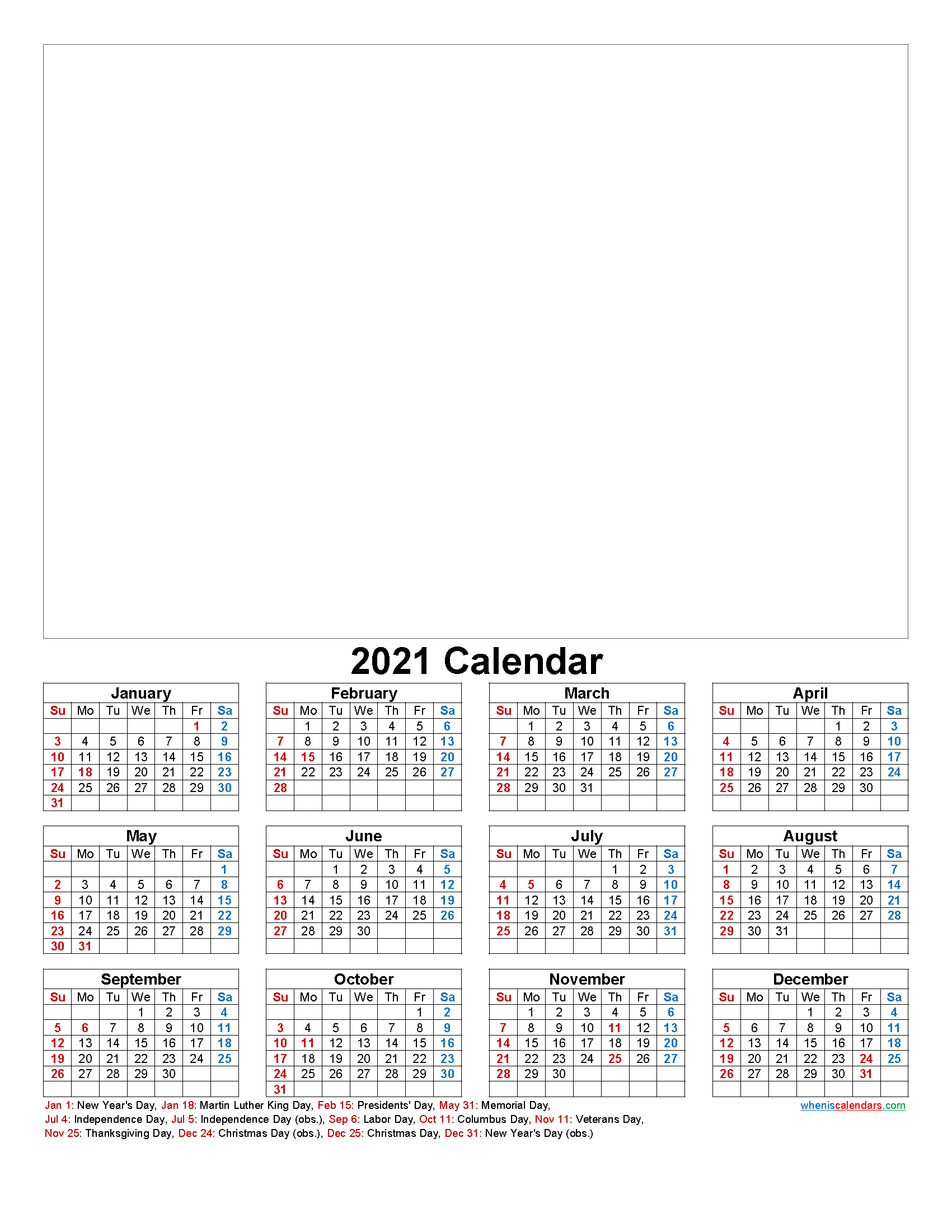 Design Your Own Calendar 2021 Pictures