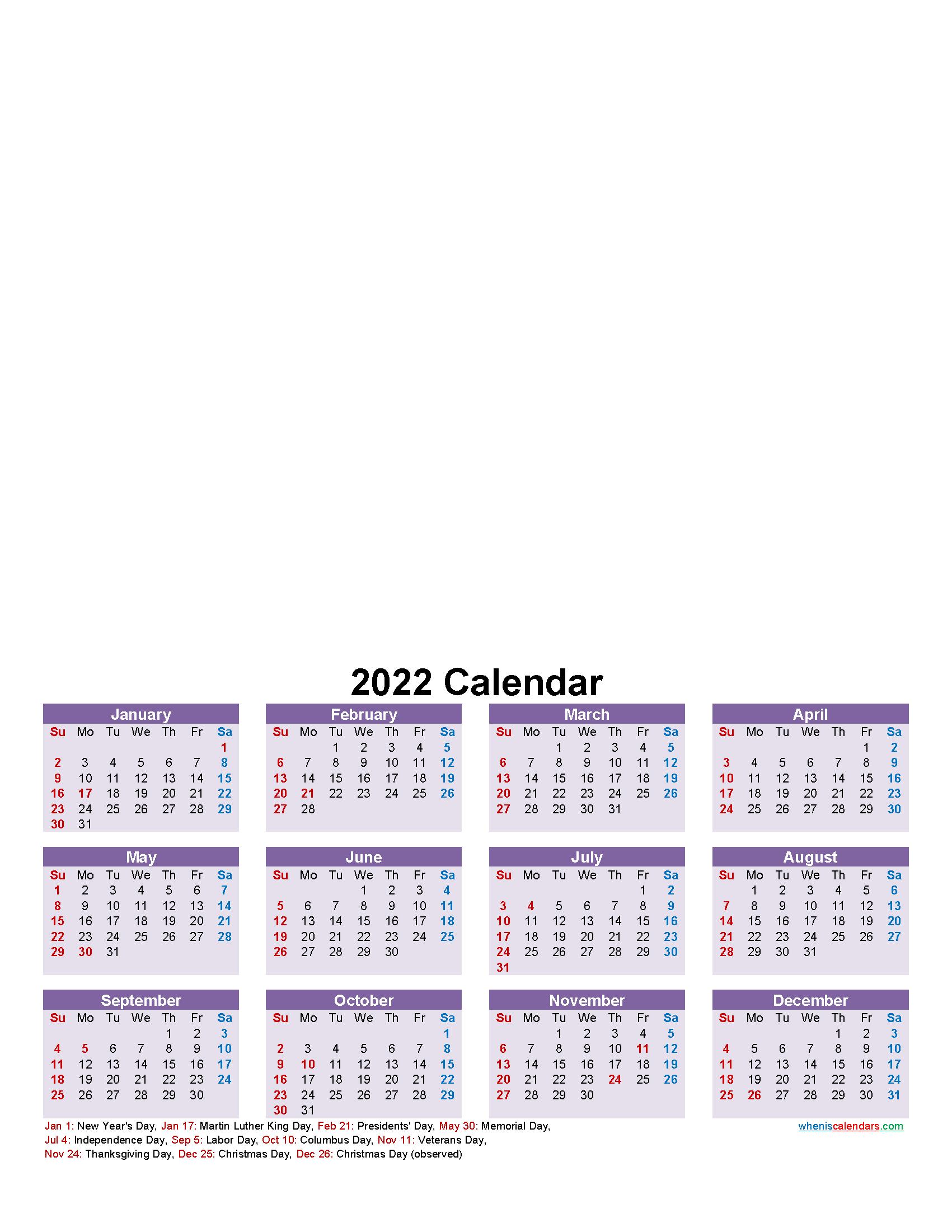 Make Your Own Photo Calendar Free 2022