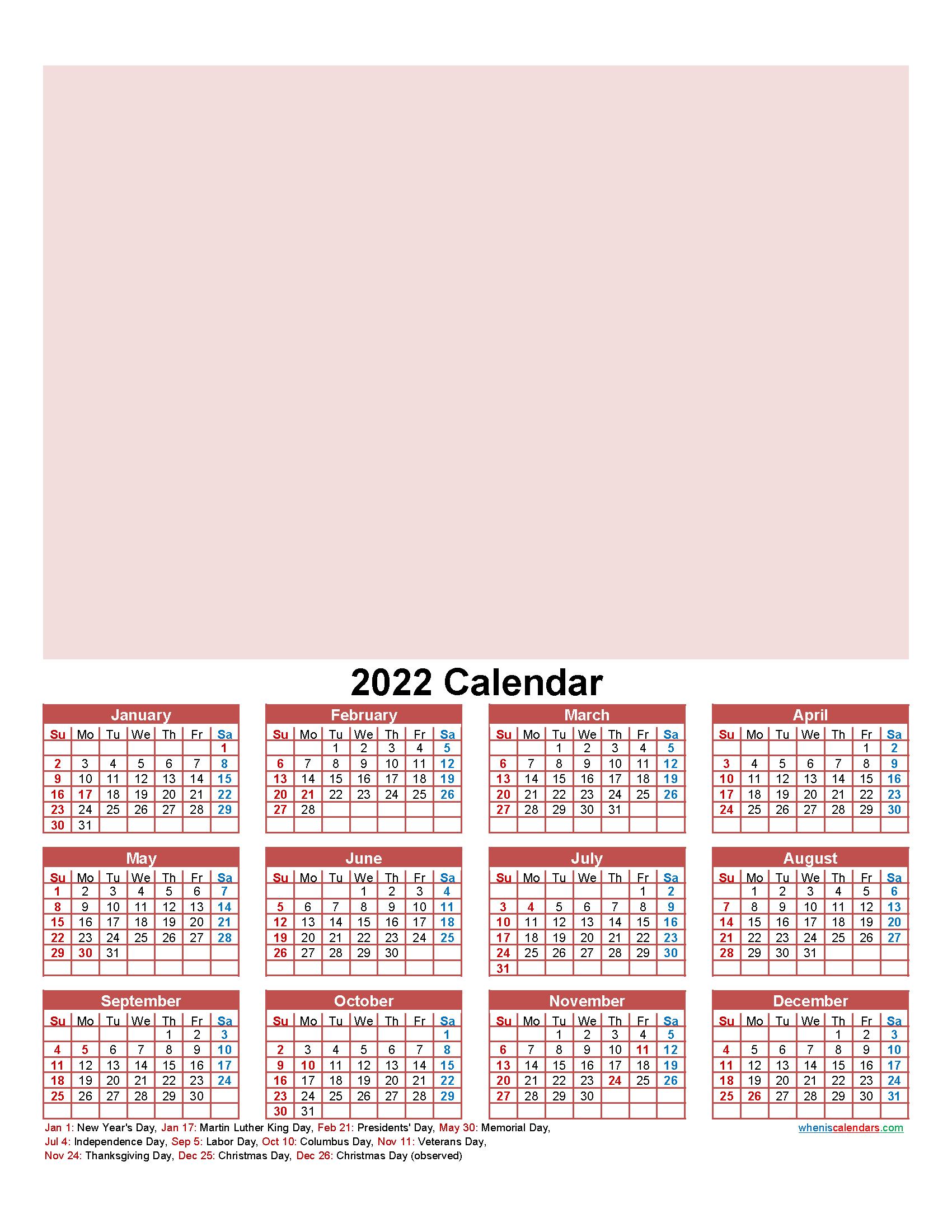 Make Your Own Calendar Free 2022