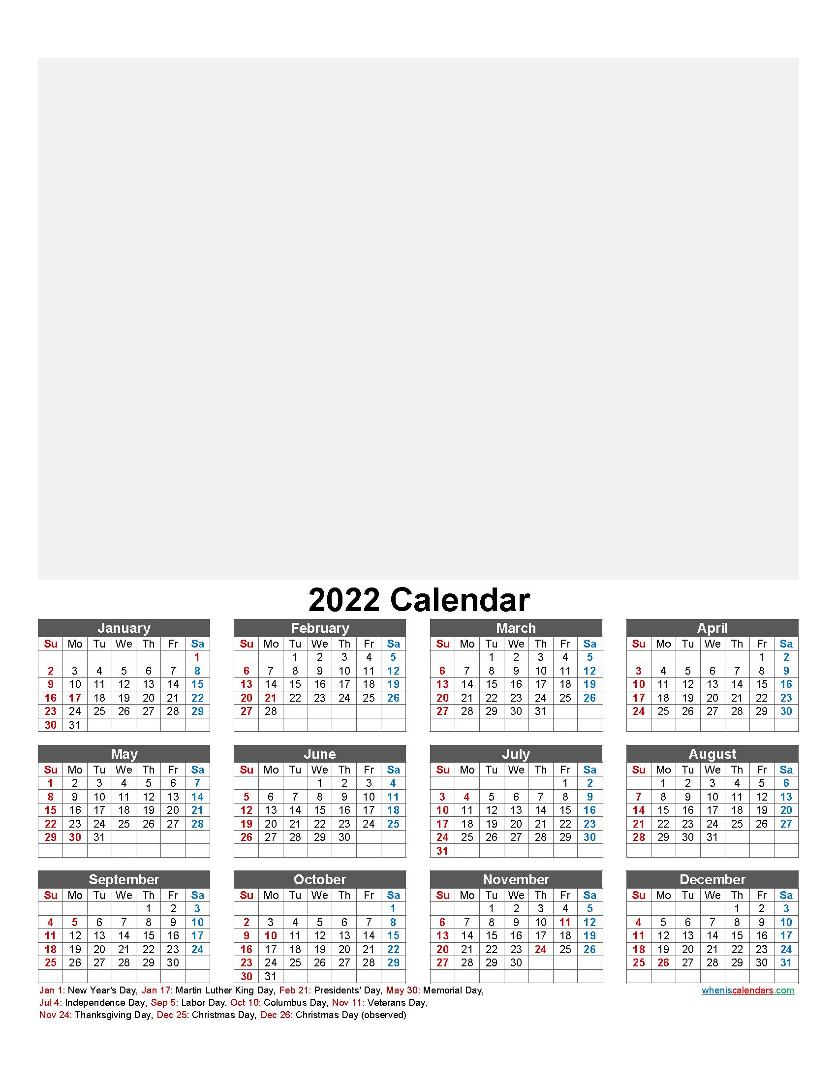 Make Your Own Photo Calendar 2022