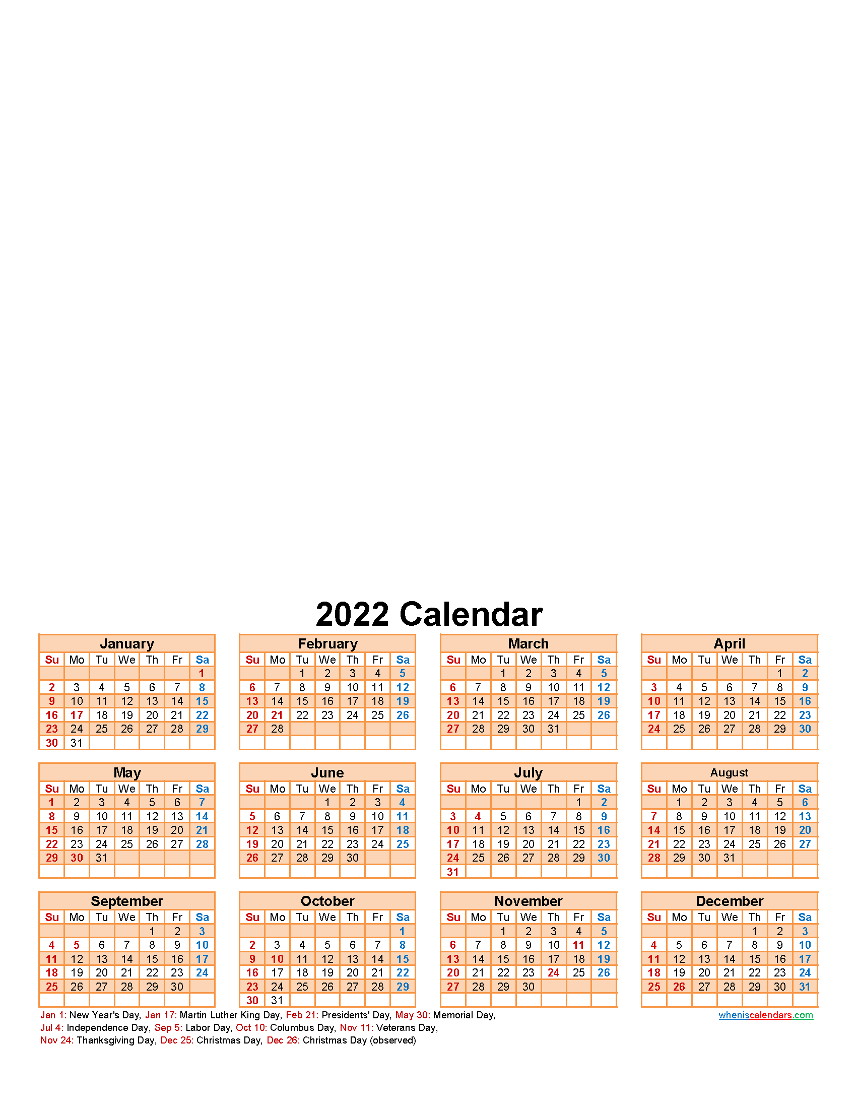 Create Your Own Photo Calendar Online Free 2022