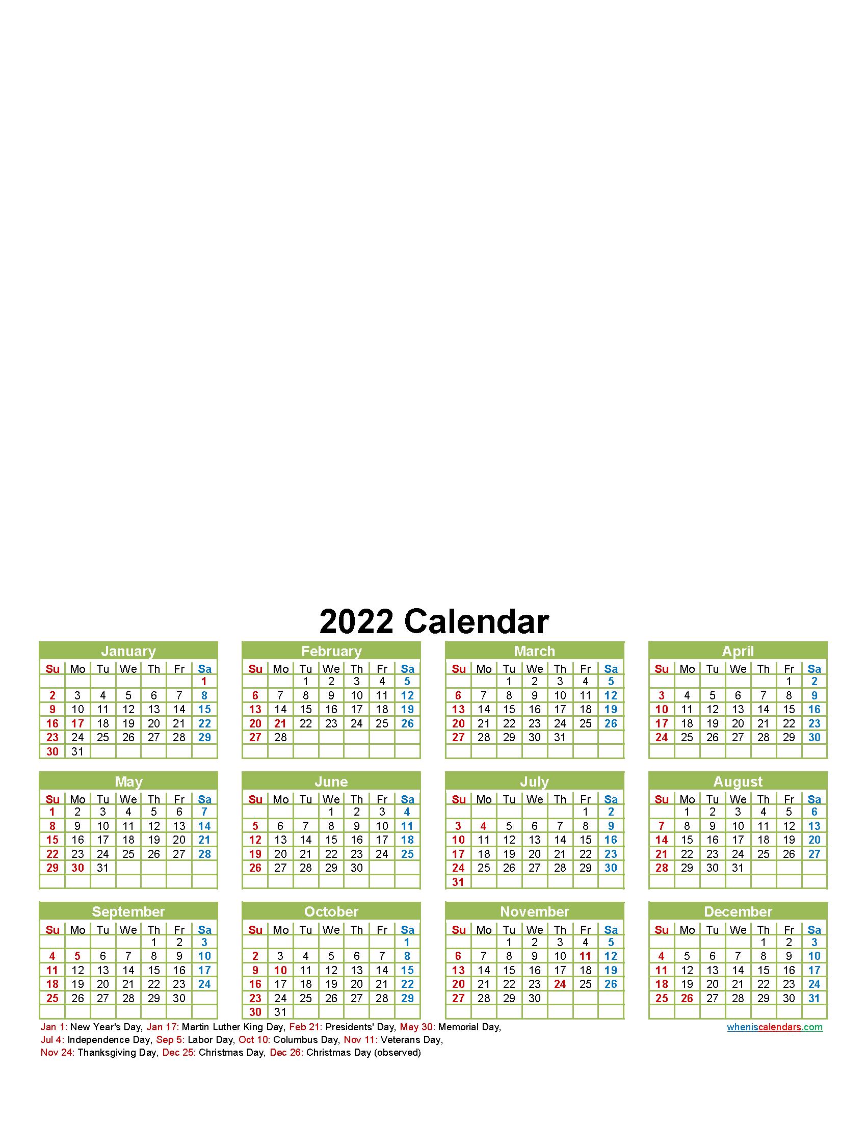 Personalised Photo Calendar 2022