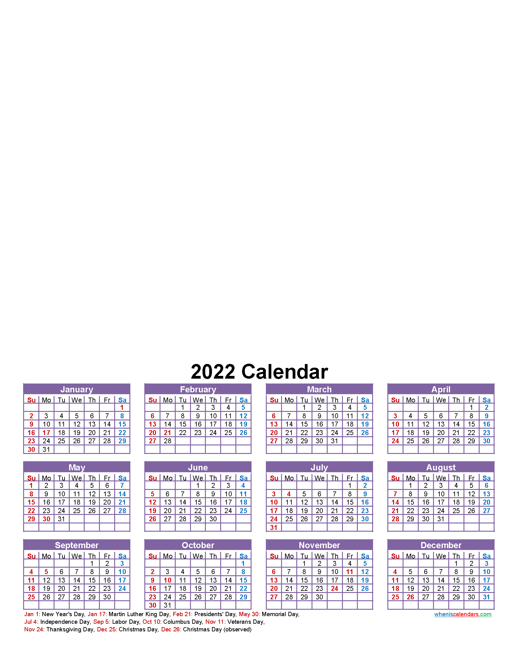 Make Your Own Photo Calendar Free 2022