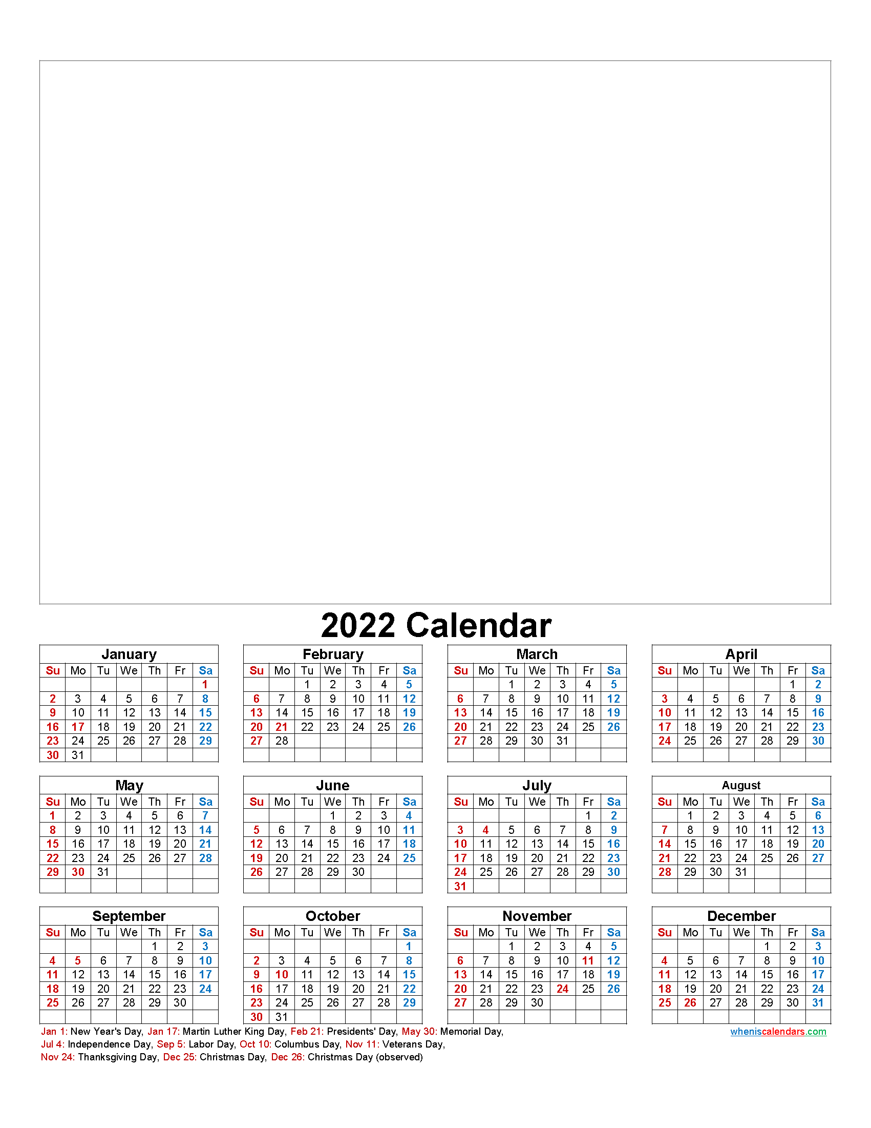 Make Your Own Photo Calendar 2022