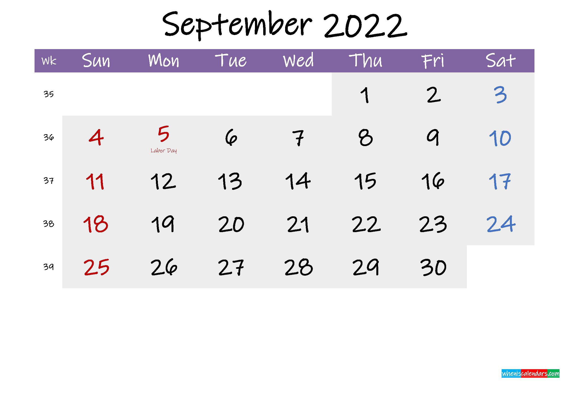 Editable September 2022 Calendar.Editable September 2022 Calendar Word Template No Ink22m225 Free Printable 2021 Monthly Calendar With Holidays