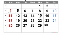 Editable April 2021 Calendar with Holidays