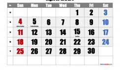 Free Printable April 2021 Calendar