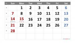 Free Printable February 2021 Calendar
