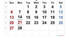 Free Printable February 2022 Calendar with Holidays