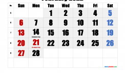 Free February 2022 Calendar Printable