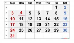 Printable July 2022 Calendar with Holidays