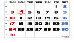 July 2022 Printable Calendar with Holidays