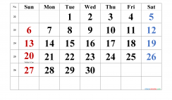 Printable June 2021 Calendar with Holidays