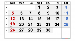 Printable June 2022 Calendar with Holidays
