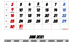 May 2021 Printable Calendar with Holidays