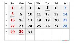 Free May 2022 Calendar Printable