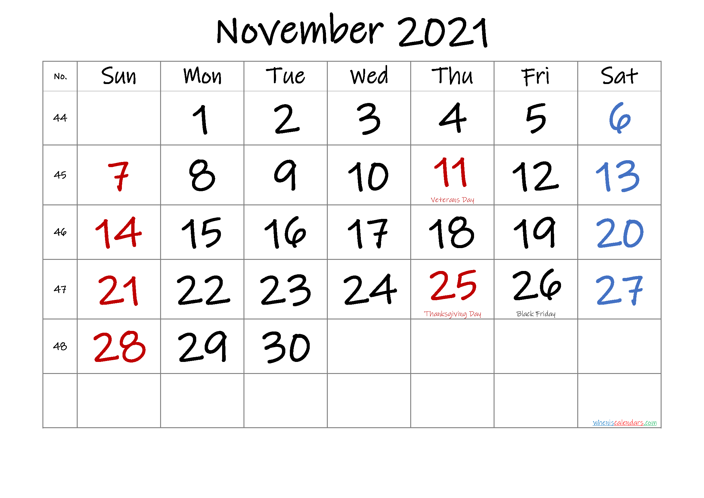 Microsoft Word 2021 Printable Monthly Calendar With ...