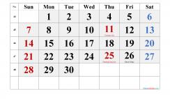 Free November 2021 Calendar Printable