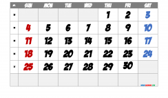 Printable April 2021 Calendar with Week Numbers