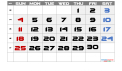 Free April 2021 Calendar with Week Numbers