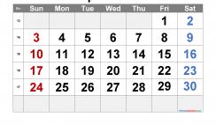 Free Printable April 2022 Calendar with Week Numbers