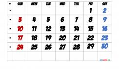 Free April 2022 Calendar with Week Numbers