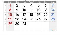 Printable Calendar 2021 August