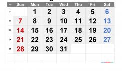 Printable Calendar 2022 August