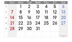 Printable August 2022 Calendar