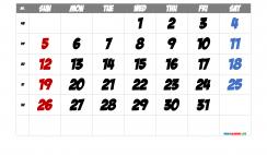 Free Printable Calendar 2021 December